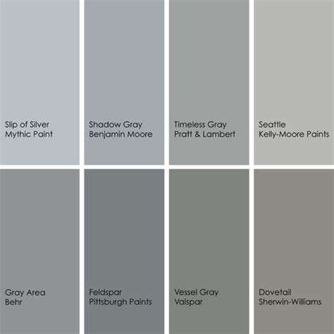 shades of grey colour shades of gray paint colors gray the perfect gray