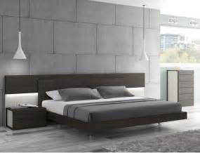 j m maia wenge premium platform bed with headboard