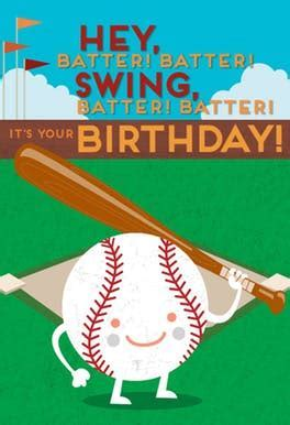 Baseball Batter   Free Birthday Card   Greetings Island