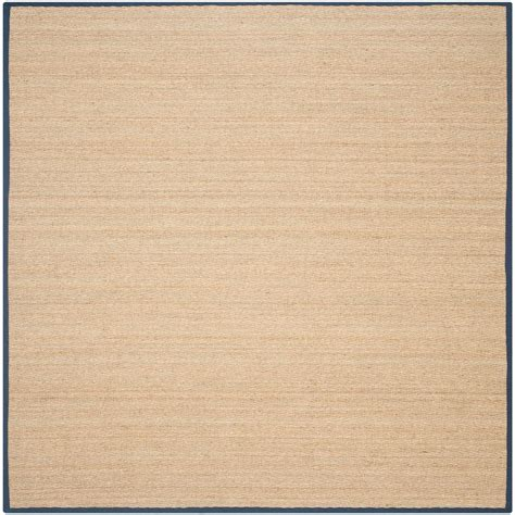 6 ft area rugs safavieh fiber beige blue 6 ft x 6 ft square area rug nf115e 6sq the home depot
