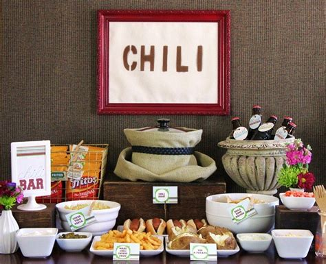 french fry bar toppings set up a chili bar all purpose chili recipe