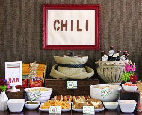 Set Up A Chili Bar All Purpose Chili Recipe Chili Buffet Menu