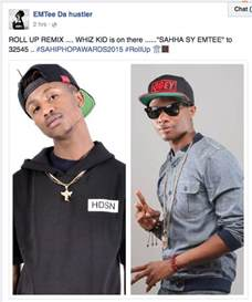 emtee picture rapper emtee features wiz kid on roll up remix sa hip