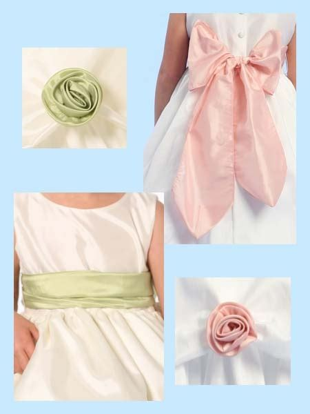 Blossom Flower Dress blossom taffeta sash and flowers