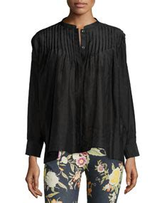 Tunic By Nk Store etro sleeve pleated tunic top black