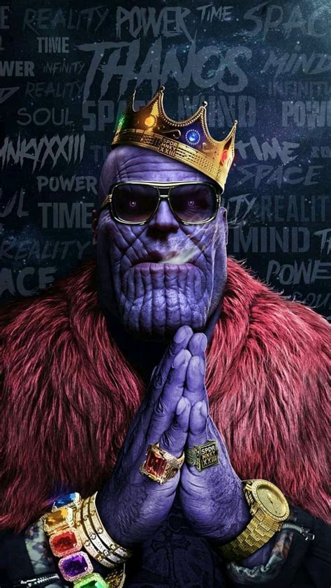 avengers thanos hip hop crown gold chains rings infinity