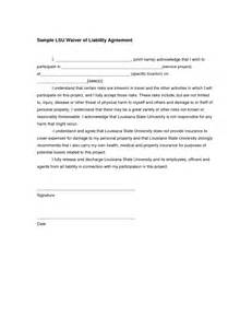 waiver of liability form template best photos of waiver of property template liability