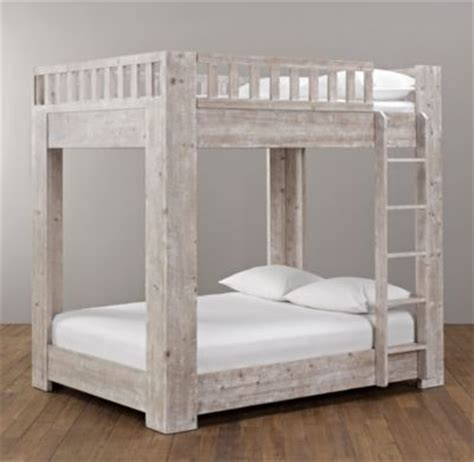 rh beds rh callum platform full over full bunk bed overall with