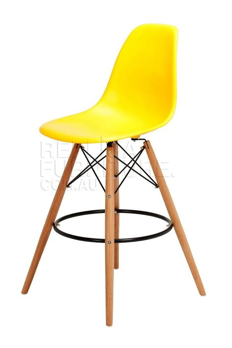 eames style bar stool yellow reaches new heights replica charles eames