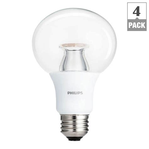 Lu Led Philips 4 Watt philips 60 watt equivalent g25 dimmable led soft white clear with warm glow light effect 4 pack