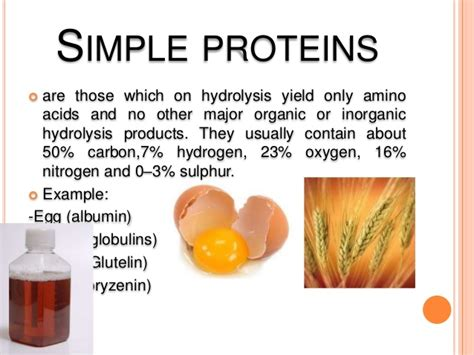 exle of protein classification and properties of protein