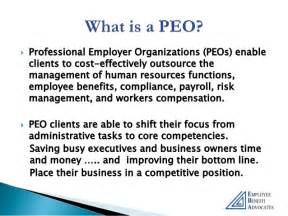 professional employer organization peo employees only human the peo service model