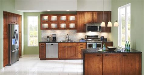 shenandoah cabinets shenandoah mission maple in auburn kitchen