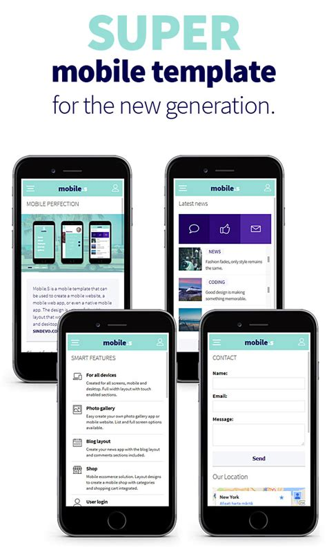 Mobiles Responsive Html Mobile Template By Sindevo Themeforest Mobile Responsive Template