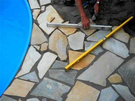 steinplatten wand polygonalplatten verlegen avi