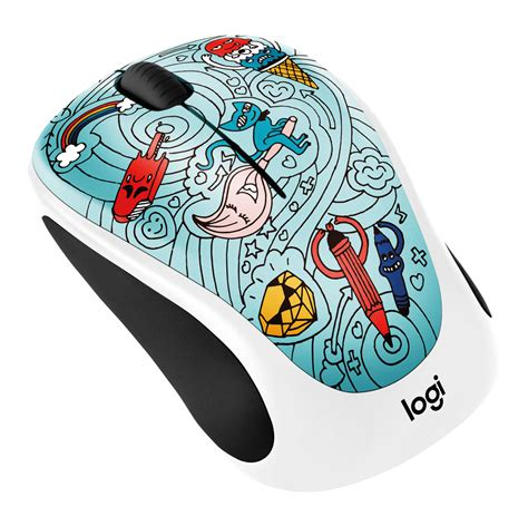 Mouse Wireless Logitech M 238 Colection 3 logitech m238 doodle collection baebee blue wireless mouse