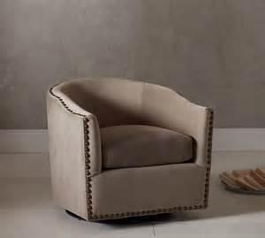 harlow upholstered swivel armchair pottery barn