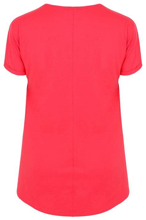 Tshirt Circle C3 t shirt coral pocket avec ourlet courb 233