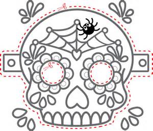 Day Of The Dead Mask Template by The Gallery For Gt Dia De Los Muertos Skull Mask Template