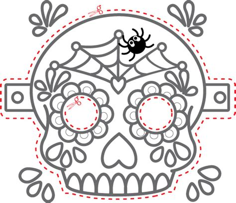 Printable Masks For Day Of The Dead | the gallery for gt dia de los muertos skull mask template