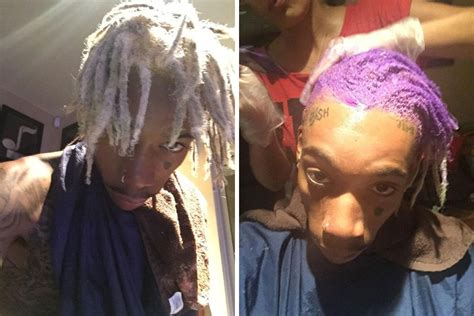 wiz khalifa dyes dreadlocks purple ballerstatus com