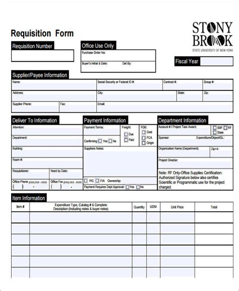 22 requisition forms in doc