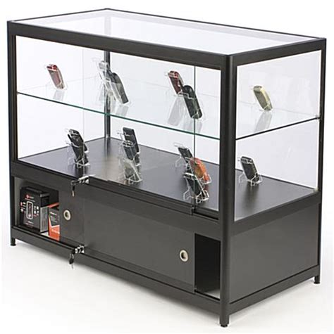 merchandise display case retail showcases full view open display case