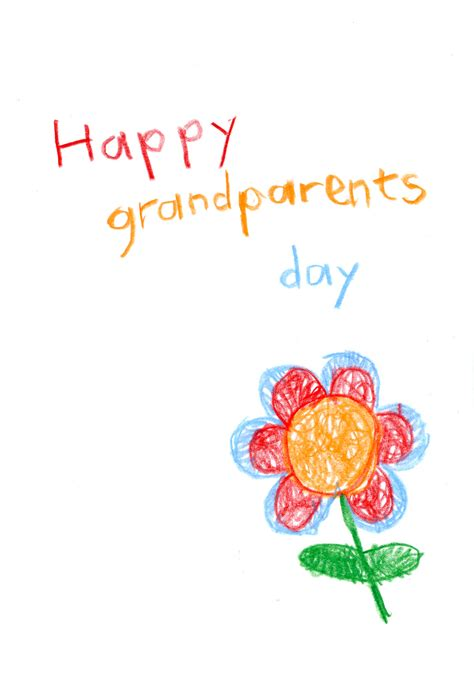 flower child drawing grandparents day card   island