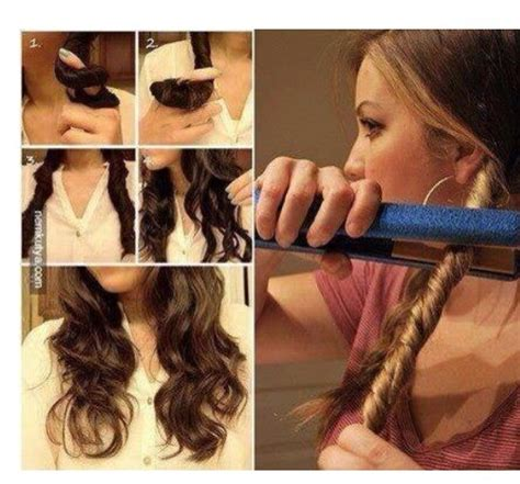 How To Curl Hair by How To Curl Your Hair With A Straightener Trusper