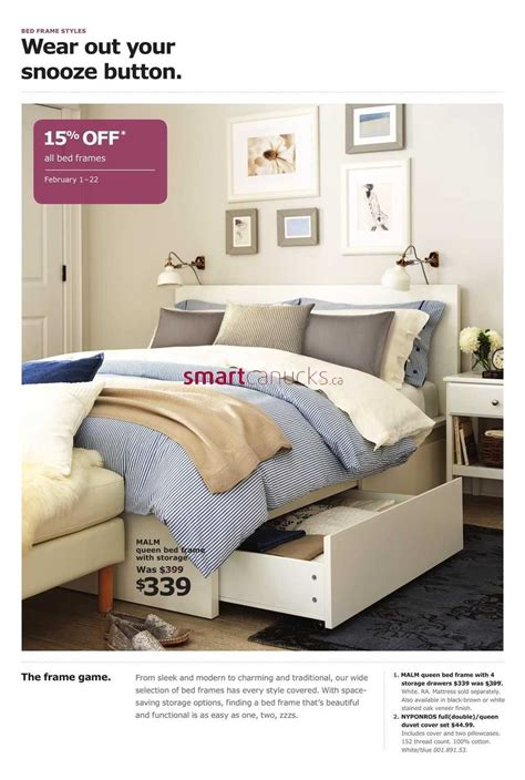 ikea canada bedroom event ikea bedroom event flyer february 1 to 22