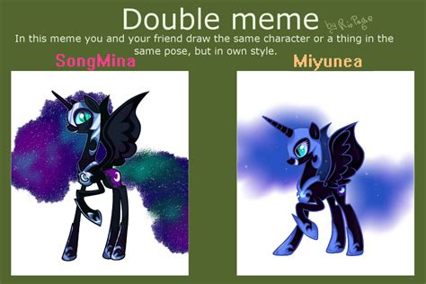 Double Meme - double meme with miyunea by songmina on deviantart