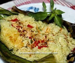 resep  membuat nasi bakar isi ayam makan malam