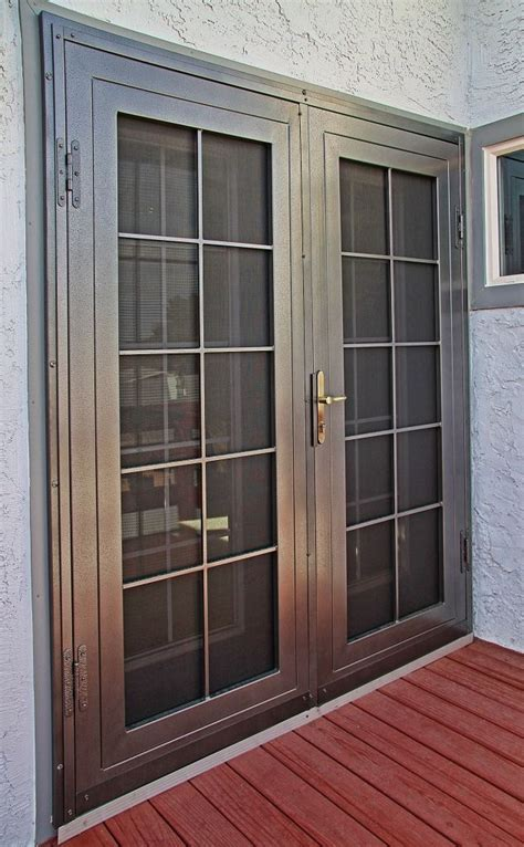 colonial  impression security doors french doors