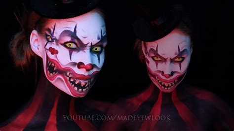 makeup tutorial two face double face clown makeup tutorial dual youtube