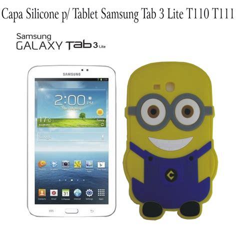 capa minion silicone tablet samsung galaxy tab 3 lite t110