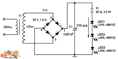 led power supply circuit diagram high current led drive circuit diagram with ac power
