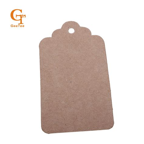 How To Make Paper Tags - vintage scallop blank kraft brown price price paper