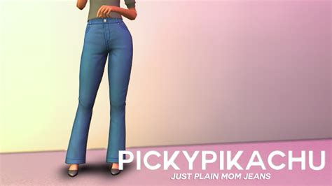 just plain mom jeans at pickypikachu 187 sims 4 updates