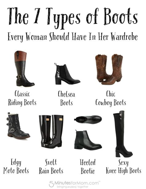 different types of boots for the 7 types of boots every should in