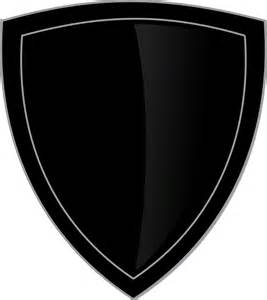 free vector graphic shield logo plain black emblem