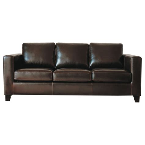 chocolate leather sofa 3 seater split leather sofa in chocolate kennedy maisons