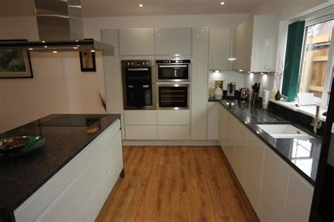 white kitchen black worktop white gloss kitchen with black granite worktops worcester