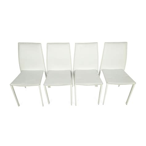 all modern dining 51 off all modern all modern white leather dining