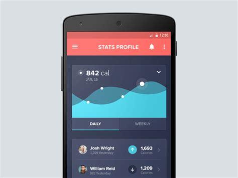 Android Health App by Android Health App By Andrew Mckay Dribbble