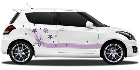 Auto Zierstreifen by Autoaufkleber Zierstreifen Blumendesign In Bunt