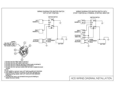 Acs Ignition Switch Wiring Diagram ignition switch wiring diagram acs products company