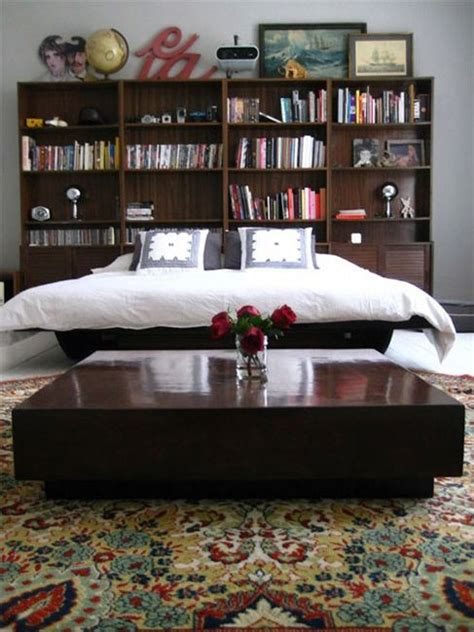 Bookshelves As Headboard by 1000 Images About Bookshelf Headboard On