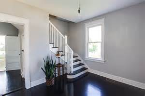 Wall Colors For Dark Hardwood Floors - remodelaholic renovating for an inviting entryway
