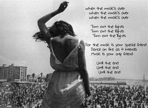 Lyrics To The End By The Doors by The Doors Lyric Quotes Quotesgram