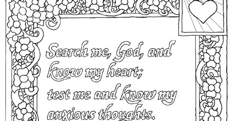 Coloring Pages For Kids By Mr Adron Printable Psalm 139 Psalm 139 Coloring Page